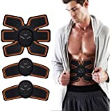 Abs Trainer,EMS Abdominal Muscle Stimulator,Abdominal Toning Belts,ABS Machine Ab Belt Toning Gym Workout Machine for Men & Women