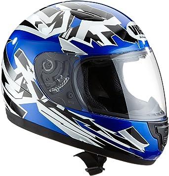 Protectwear Sa03 Bl S Kinder Motorradhelm Integralhelm Größe S Youth Xl Blau Silber Auto