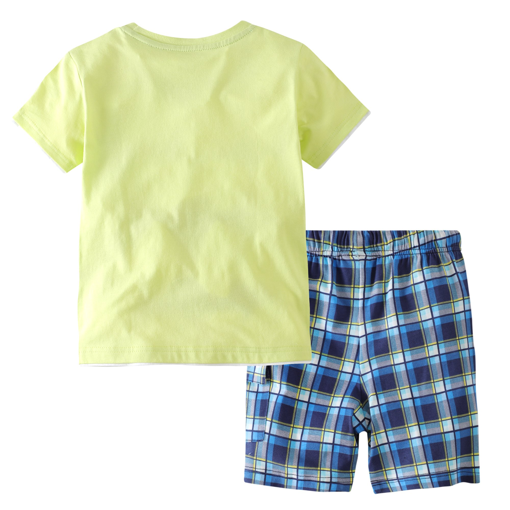 Little Bitty Little Boy Short Set Summer Cotton Clothing Set Essential Shorts Set by Little Bitty (Image #2)