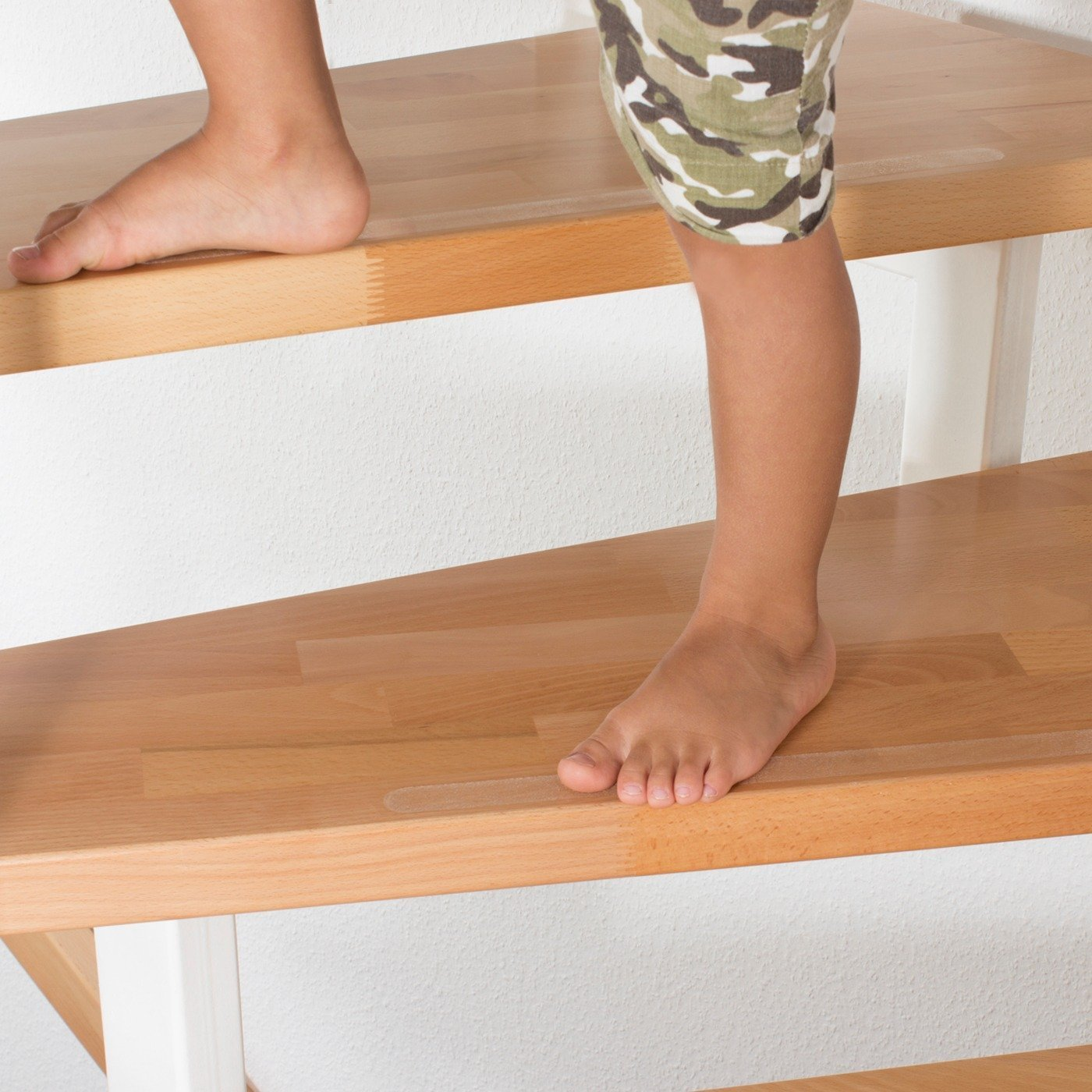 Keep your Family Baby Child Kids Elderly Safe from Slips Non Slip Stair Clear Discreet Safety Grip Strips -SLIPS AWAY/® Strong Textured Adhesive Sticker Tape Treads Perfect for Stairs Step Laminate Wooden Floor Hallway HIGHEST QUALITY
