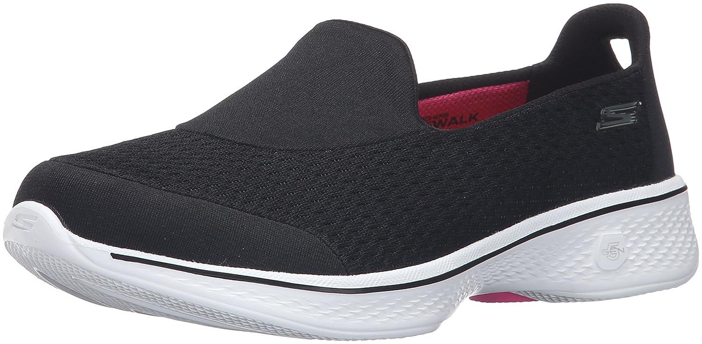 Skechers レディース Go Walk 4 14148 B01AH0CD8E 10.5 B(M) US|ブラック/ホワイト ブラック/ホワイト 10.5 B(M) US