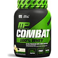 MusclePharm Combat 100% Whey, Muscle-Building Whey Protein Powder, Vanilla, 2 Pounds, 29 Servings