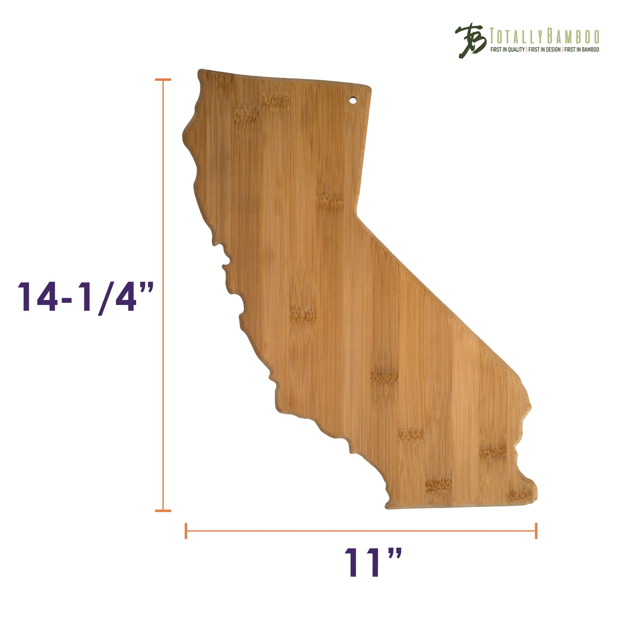 Totally Bamboo California State Shaped Bamboo Serving and Cutting Board by Totally Bamboo (Image #5)