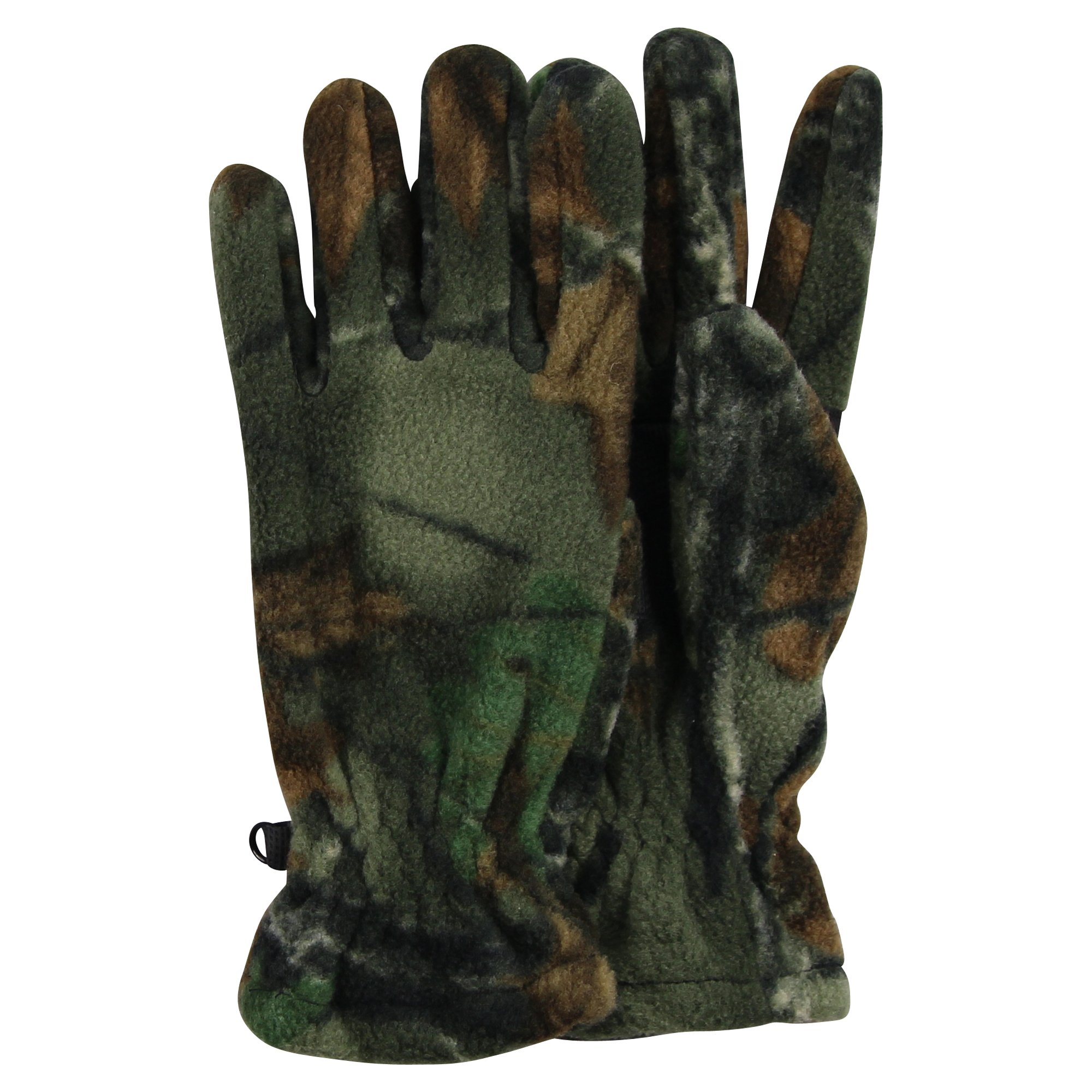 Men's Fleece Camouflage Winter Gloves (Large)