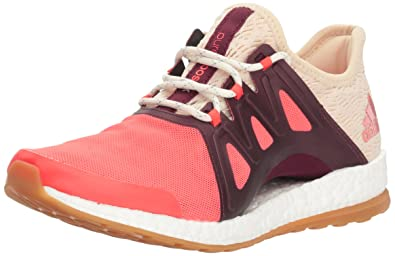new arrival 6fa0f f78a6 adidas Women s Pureboost Xpose Clima Running Shoe, Easy Coral White Light  Maroon,