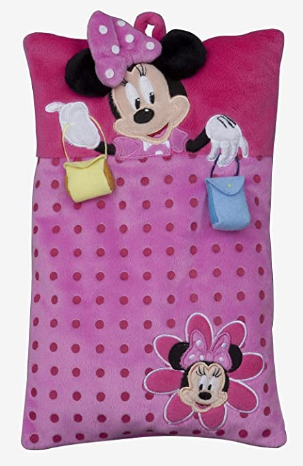 Joy Toy 14421 - Minnie Mouse - Cojín con bolsillo para pijamas (22 x 35