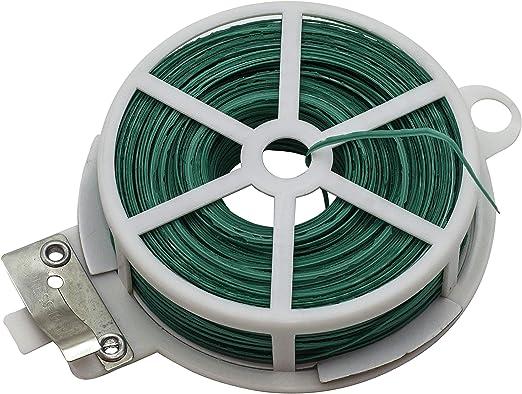 Riegolux 601700 Alambre Plastificado, Verde, 30 m: Amazon.es: Jardín