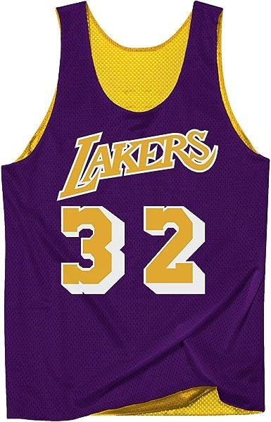 Camiseta Hombre Mitchell & Ness Tank Lakers Amarilla Reversible LALLGPR1EJH84: Amazon.es: Ropa y accesorios