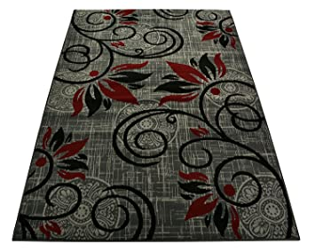 Amazon Com Normian Collection Flowers Floral Design Area Rug Rugs