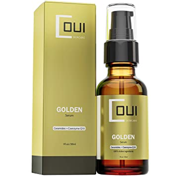 GOLDEN Facial Serum Anti Aging Hydration - Coenzyme Q10, Argan Oil, Natural  Ingredients for