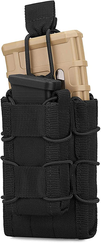 Tactical Mag Pouch Magazine Multi Tool Pouch Airsoft Pistol Molle Webbing Bags