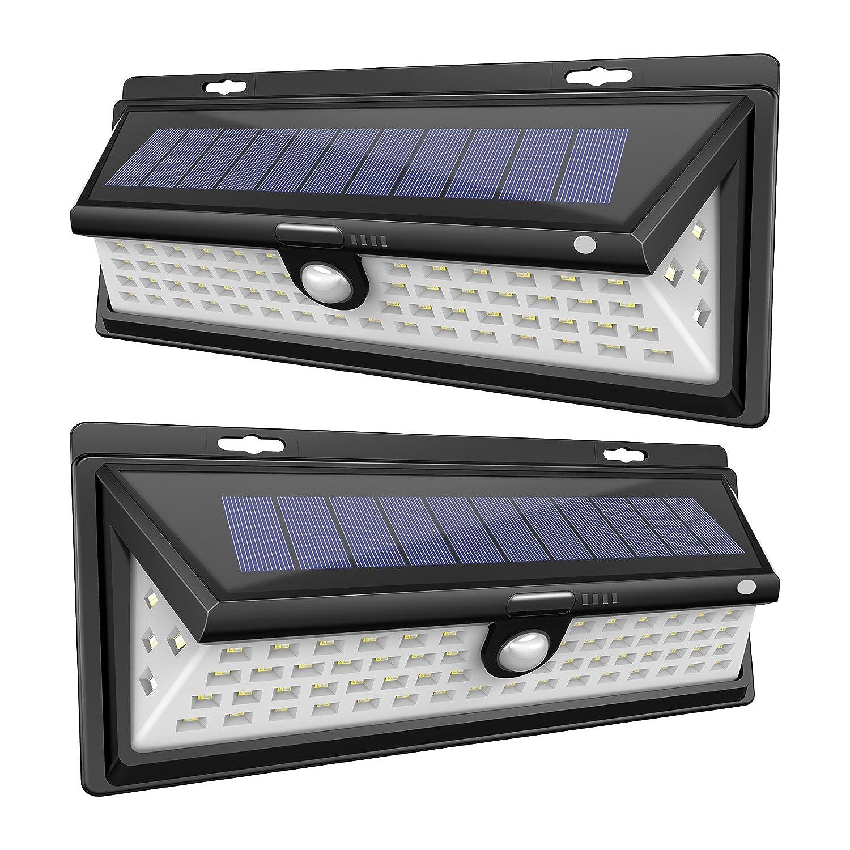 Balight Solar壁ライト屋外壁マウント66 LEDガーデンライト風景照明自動オン/オフ常夜灯スポットライトセキュリティライトガレージの私道パティオYard FBA-BA-0011 B075S12YK5 21678  2パック