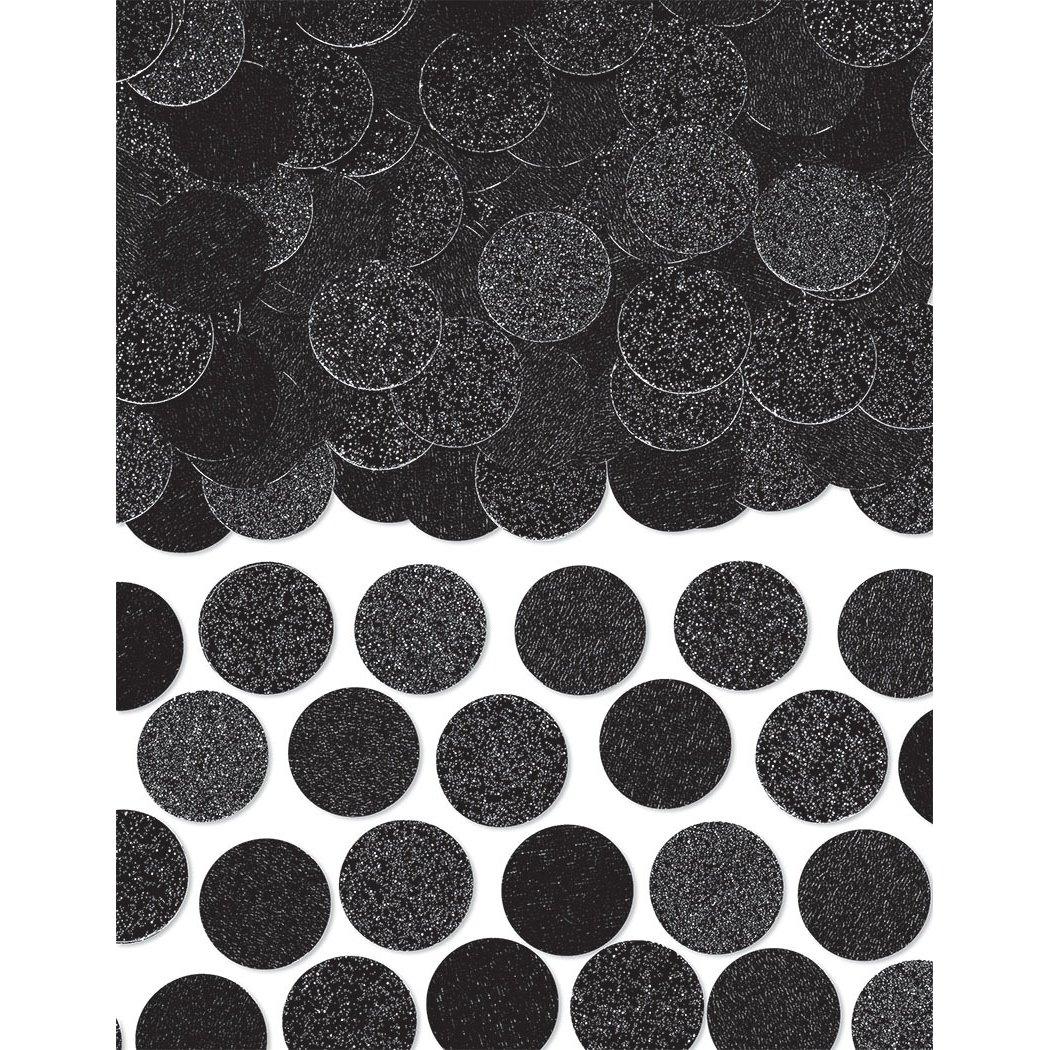Amscan 360220.10 Poppers Glitter /& Foil Circle Confetti 2.25 oz Black