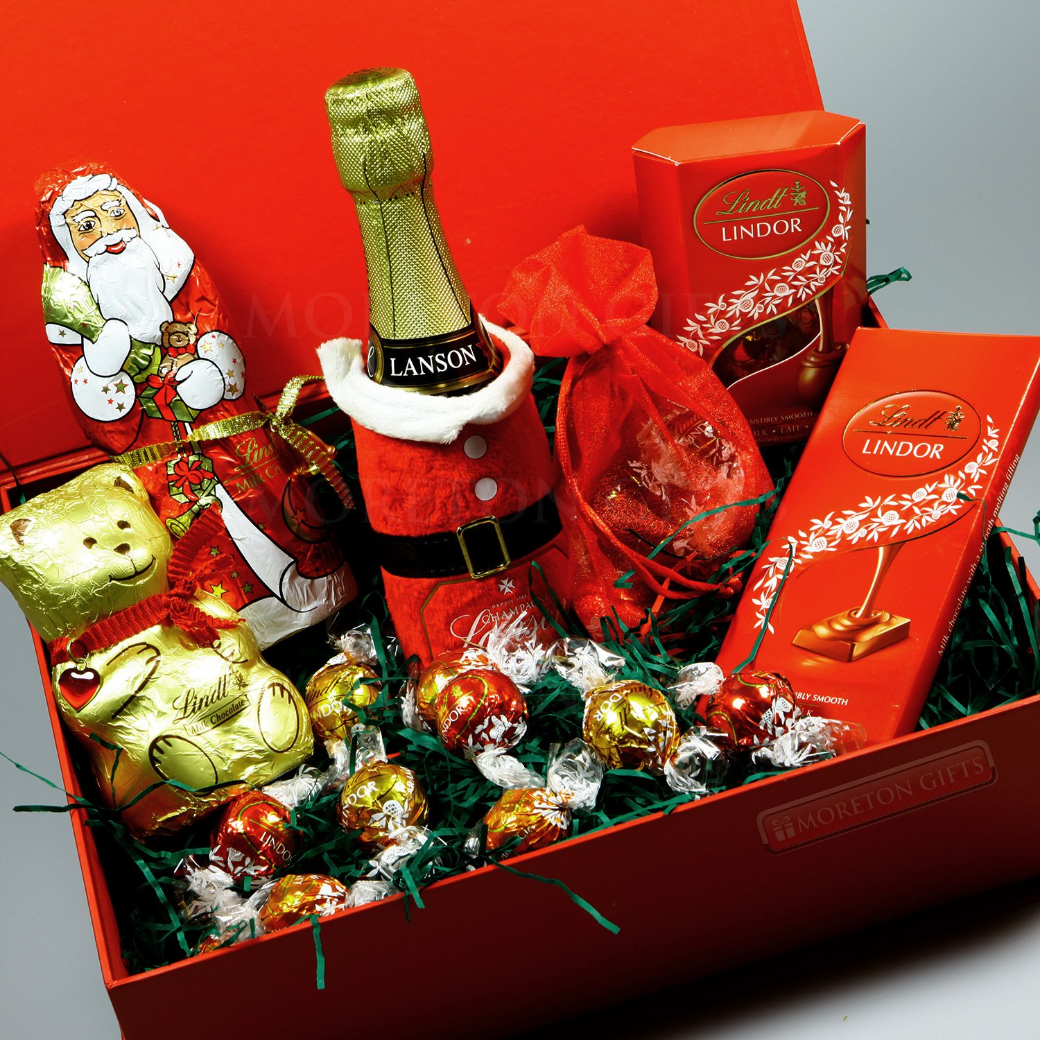 Lanson Champagne and Lindt Chocolate Christmas Gift Box -Lanson ...