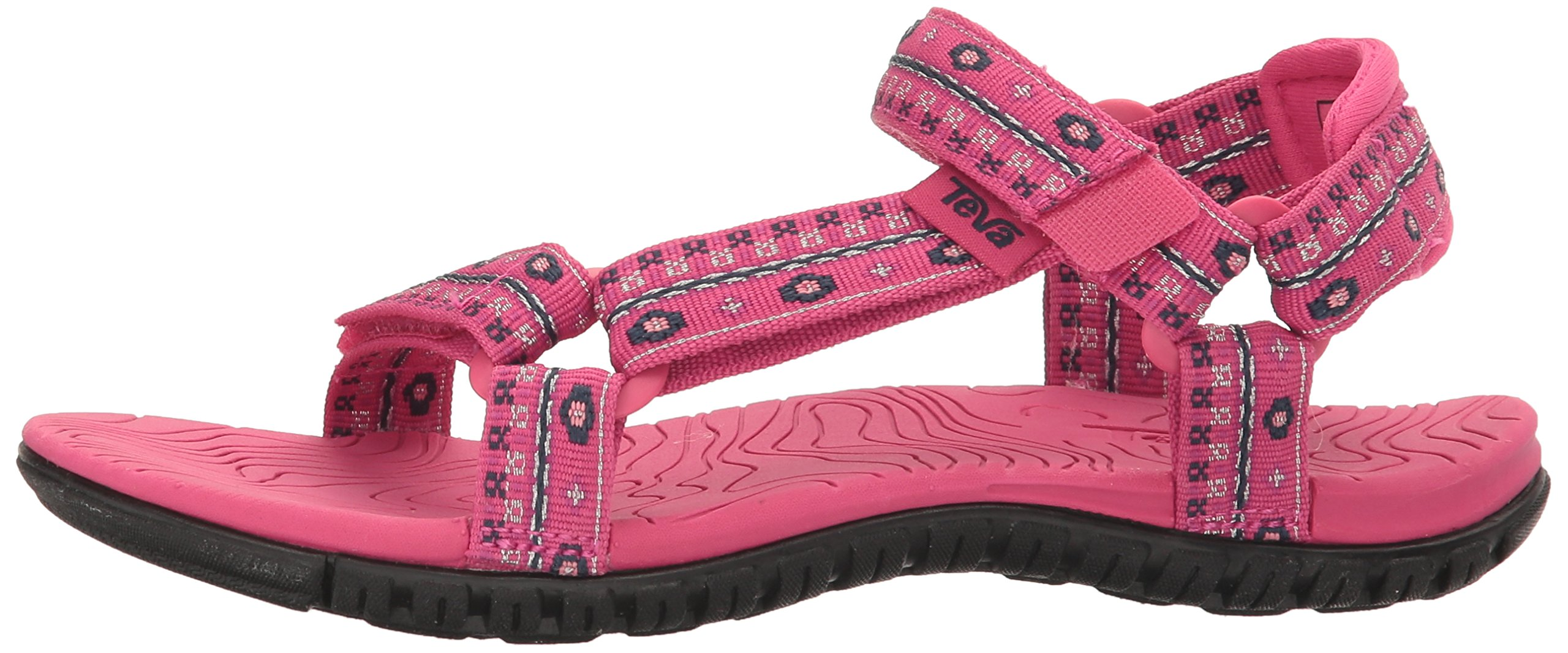 Teva Girls' Hurricane 3 Sandal, Hippie Raspberry, 6 M US Toddler by Teva (Image #5)