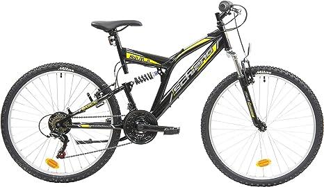 F.lli Schiano Bull Bicicleta Montaña, Mens, Negro-Amarillo, 26 ...