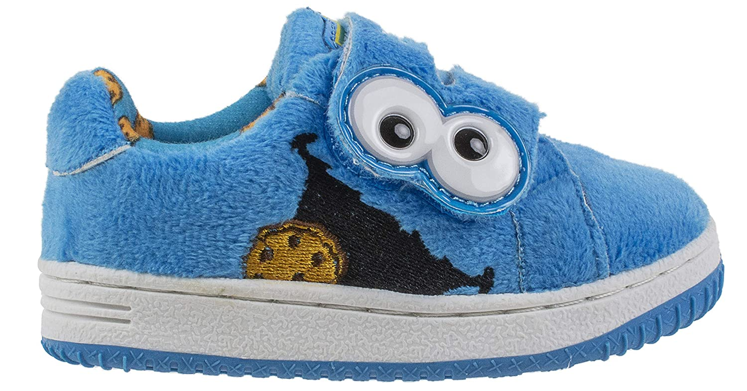 f918944f48757 Sesame Street Elmo and Cookie Monster Baby Shoes with Strap, Hard Bottom,  Infant & Toddler Size 3 to 8