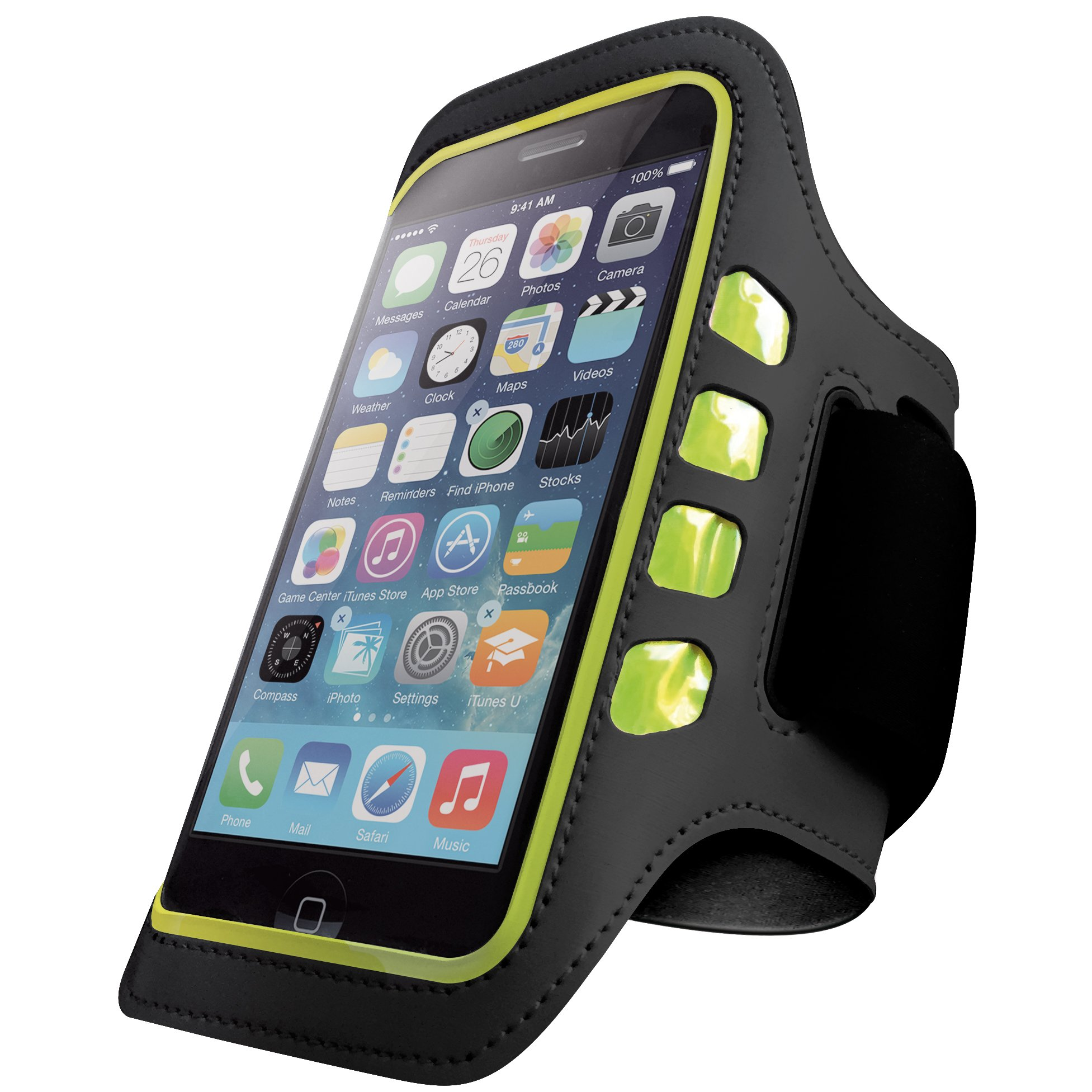Iphone 6 And 6S Armband - Best For Running Sports And Workout - Led Lights Sw.. 16