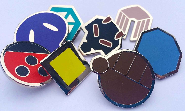 amazon com pokemon gym badges johto gen 2 johto league ash