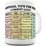 Twisted Envy Survival Tips For Men Ceramic Funny Mug