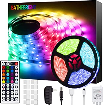 Home TV Ceiling Party Lighting and Decoration Colour Changing Light Strip Kit Gofodn/LED Strip Lights with Remote LED Lights for Bedroom