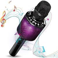 Wireless Karaoke Microphone, i-Star Bluetooth Karaoke Microphone with LED Disco Light, Portable Wireless Karaoke Machine For Singing