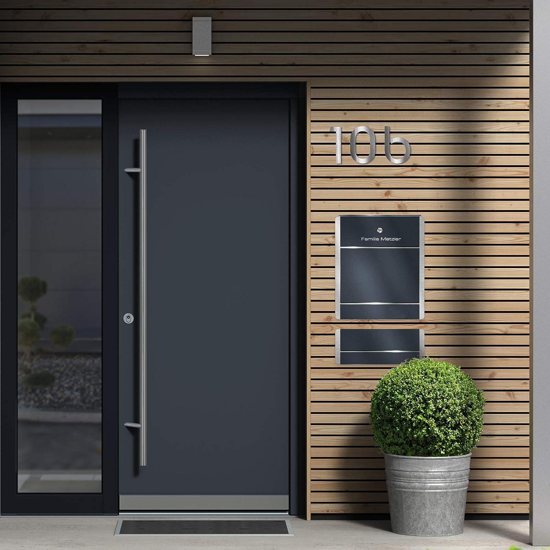 Bauhaus - Número de casa (acero inoxidable, 140 mm): Amazon.es: Bricolaje y herramientas