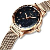 CIVO Womens Watches Ladies Luxury Slim Waterproof Fashion Wrist Watch for Girls Rose Gold Stainless Steel Mesh Band Dress Casual Woman Lady Quartz Watch