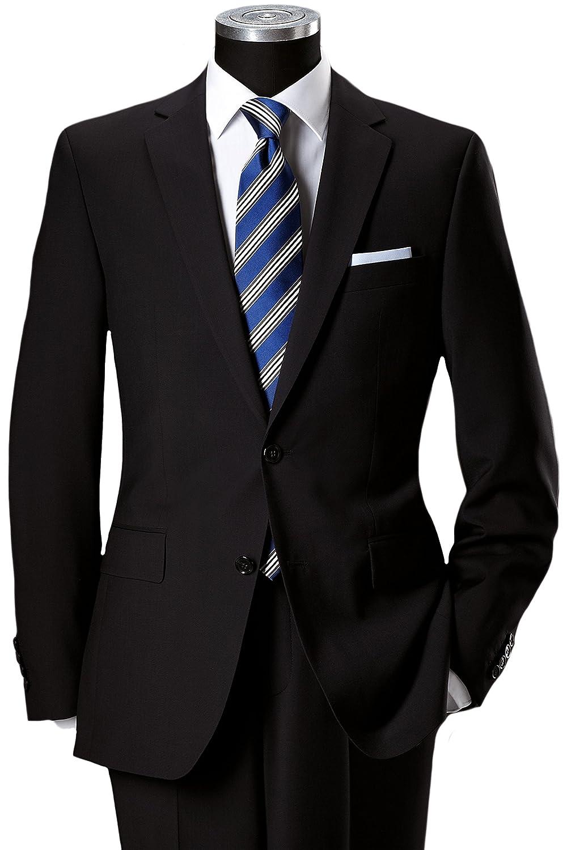 Pierre Cardin Slim Fit 2-Knopf-Anzug aus feinem Marzotto Tuch in schwarz