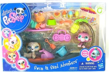 Amazon.es: Littlest Pet Shop Hasbro Accesorios Playa - Set de 3 ...