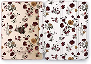 Wonder Wild Case Compatible with Apple iPad Purple Bouquet Mini 1 2 3 4 Air 2 Pro 10.5 12.9 Tablet 11 10.2 9.7 inch Drawn Stand Floral Summer Flower Pretty Sweet Beautiful Tulips Rose Leaves Original