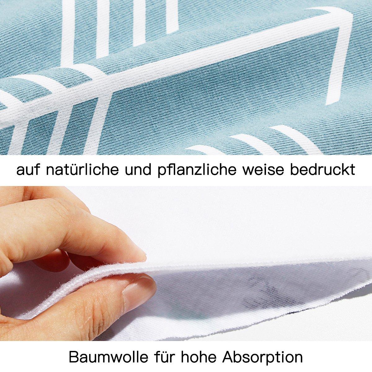 8er Dreieckstuch Baby m/ädchen L/ätzchen Abwaschbar Halstuch baby Mit Druckkn/öpfen Multifunctional