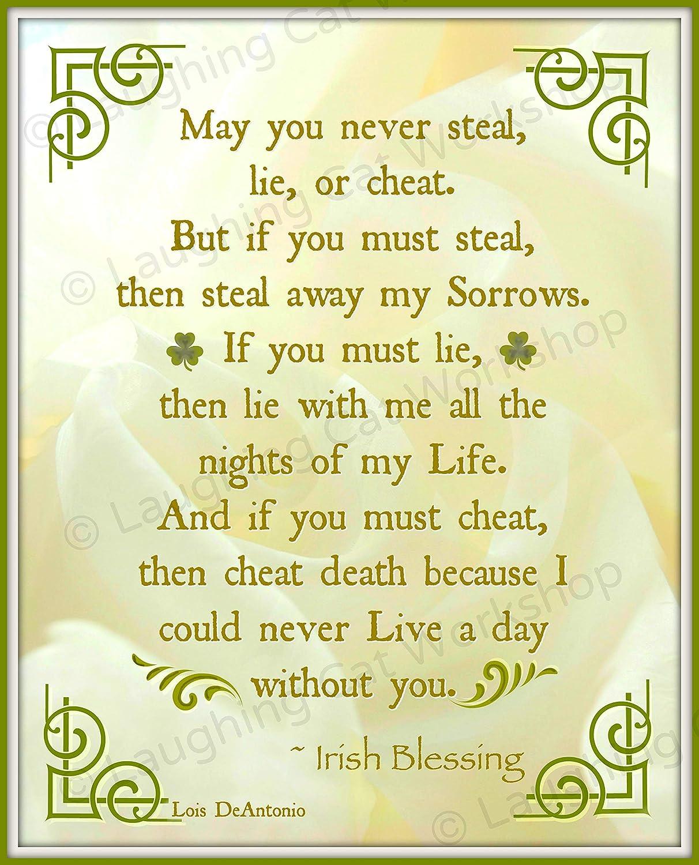 Amazon com: Irish Blessing print Celtic Gaelic Scottish wall decor