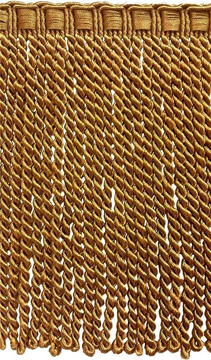 Basic Trim Collection 9 Inch Long Dark Navy Blue Bullion Fringe Trim 18 Yard Pack 54 Ft  16.5 M Style# BFEMP9 Color M52