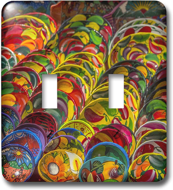 3dRose Danita Delimont - Decor - Local pottery wares for sale at historic Mayan Chichen Itza, Mexico. - double toggle switch (lsp_314383_2)