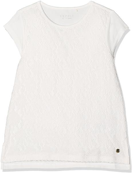 Esprit RK10085, Camiseta para Niñas, Blanco (Off White 110), 16 años