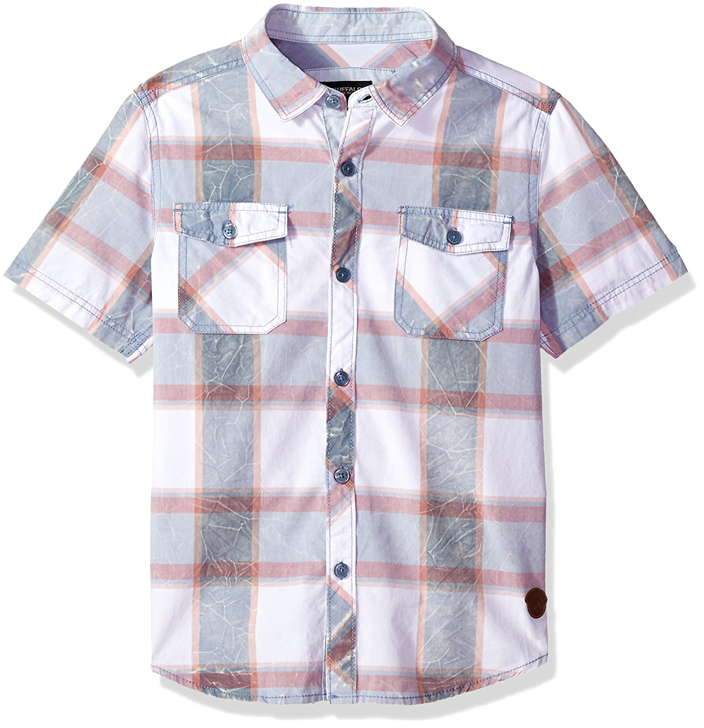 Buffalo David Bitton Boys Big Boys Short Sleeve Button Down Shirt Buffalo by David Bitton