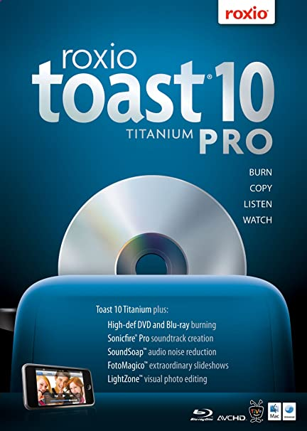 Amazon. Com: roxio toast 10 titanium pro for mac [download] [old.