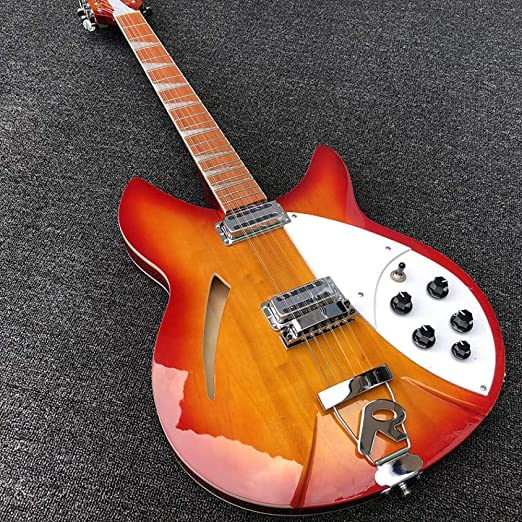 Florwesr 12 Cuerdas Guitarra Eléctrica Guitarra Cereza Roja ...