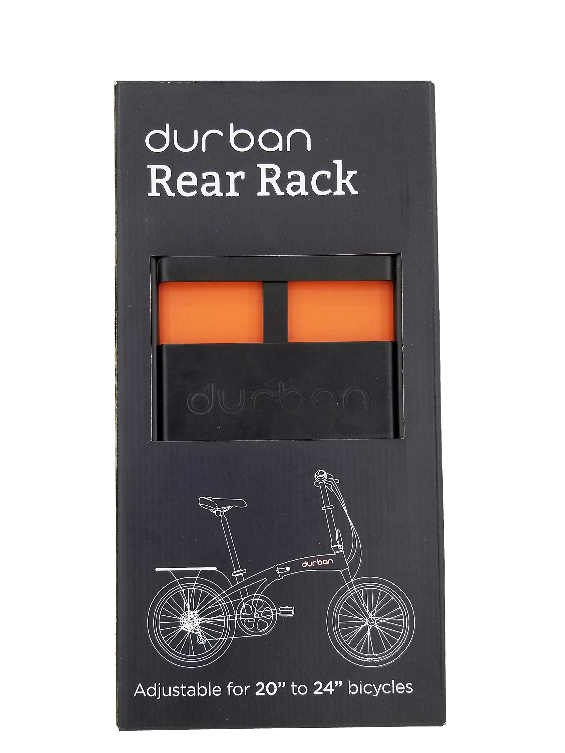 Durban Bike Rear Rack - Adjustable for 20'' Bicycles - 33Lbs Max. Load by Urban D (Image #4)