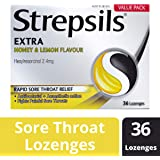 Strepsils Extra Lozenges Honey and Lemon 16s Numbs the Pain, 0.055 kilograms