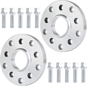 Wheel Spacer Kit 57.1mm 5x100  5x112 Inc Bolts Audi R8 15mm and 20mm Spacer