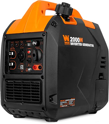 WEN 56202i Super Quiet 2000-Watt Portable Inverter Generator, CARB Compliant,Black