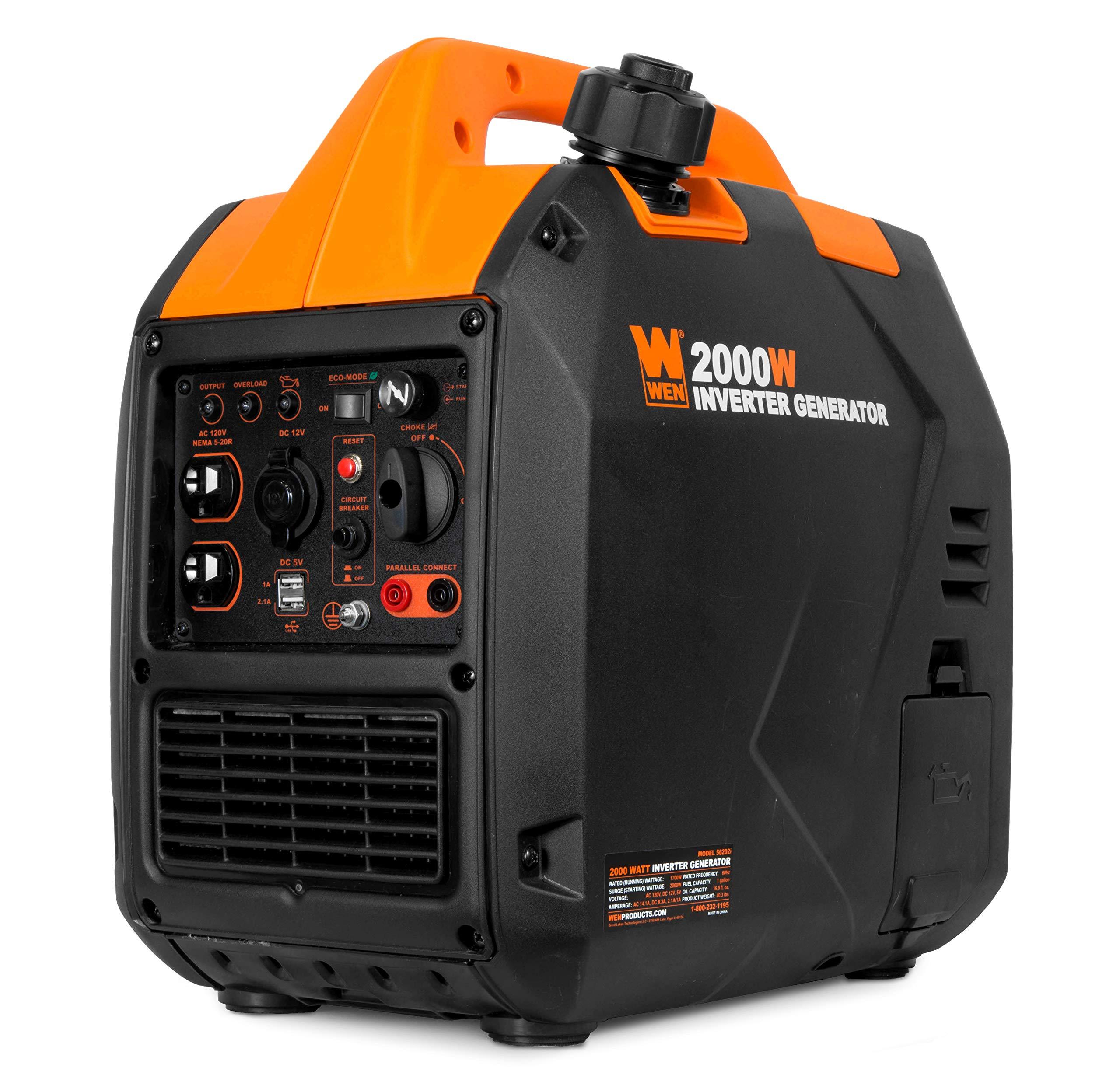 WEN 56202i Super Quiet 2000-Watt Portable Inverter Generator, CARB Compliant