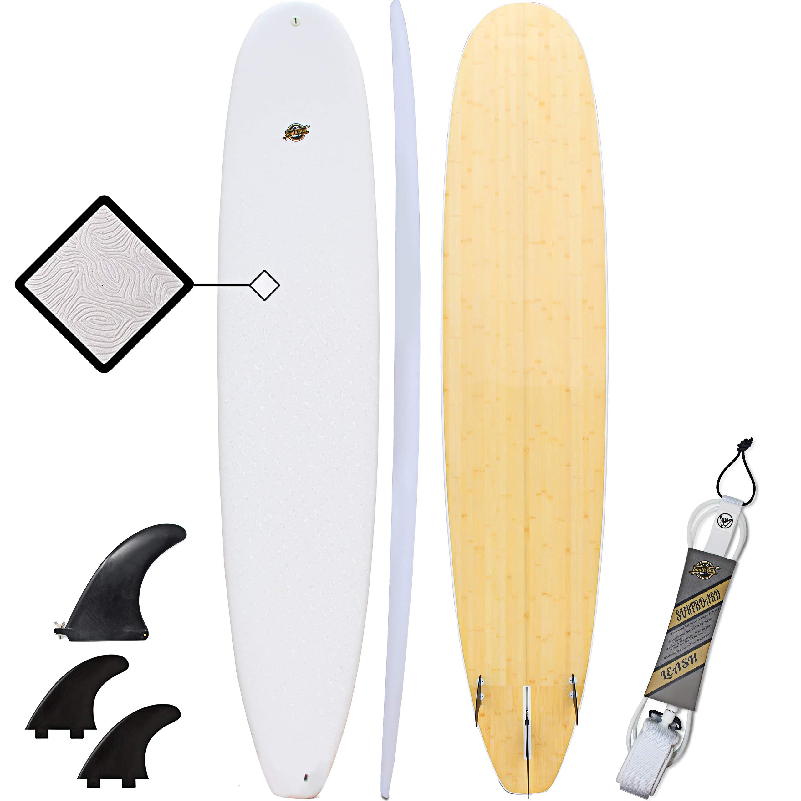 Hybrid Surfboard - Best Performance Foam Surfboard for All Levels of Surfing - Custom Longboard & Shortboard Surfboard Shapes for Kids and Adults - Wax Free Soft Top + Fiberglassed Hard Bottom by South Bay Board Co.