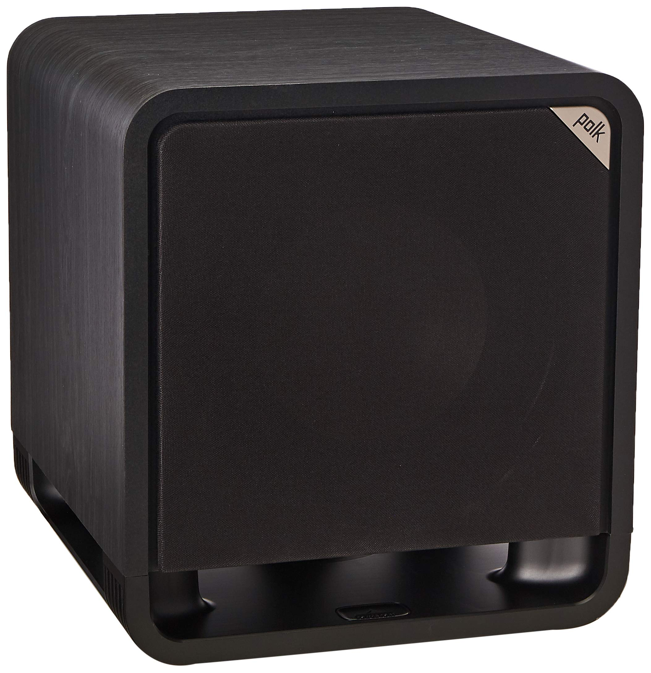 Polk Audio HTS 10 Powered Subwoofer with Power Port Technology | 10'' Woofer, up to 200W Amp | For the Ultimate Home Theater Experience | Modern Sub that Fits in any Setting | Washed Black Walnut by Polk Audio