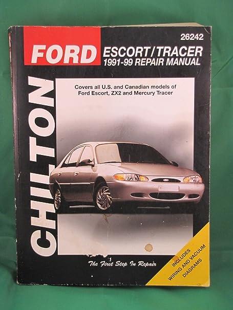 amazon com 1991 99 chilton repair manual ford escort mercury rh amazon com 1991 Mercury Tracer LTS 1986 Mercury Tracer