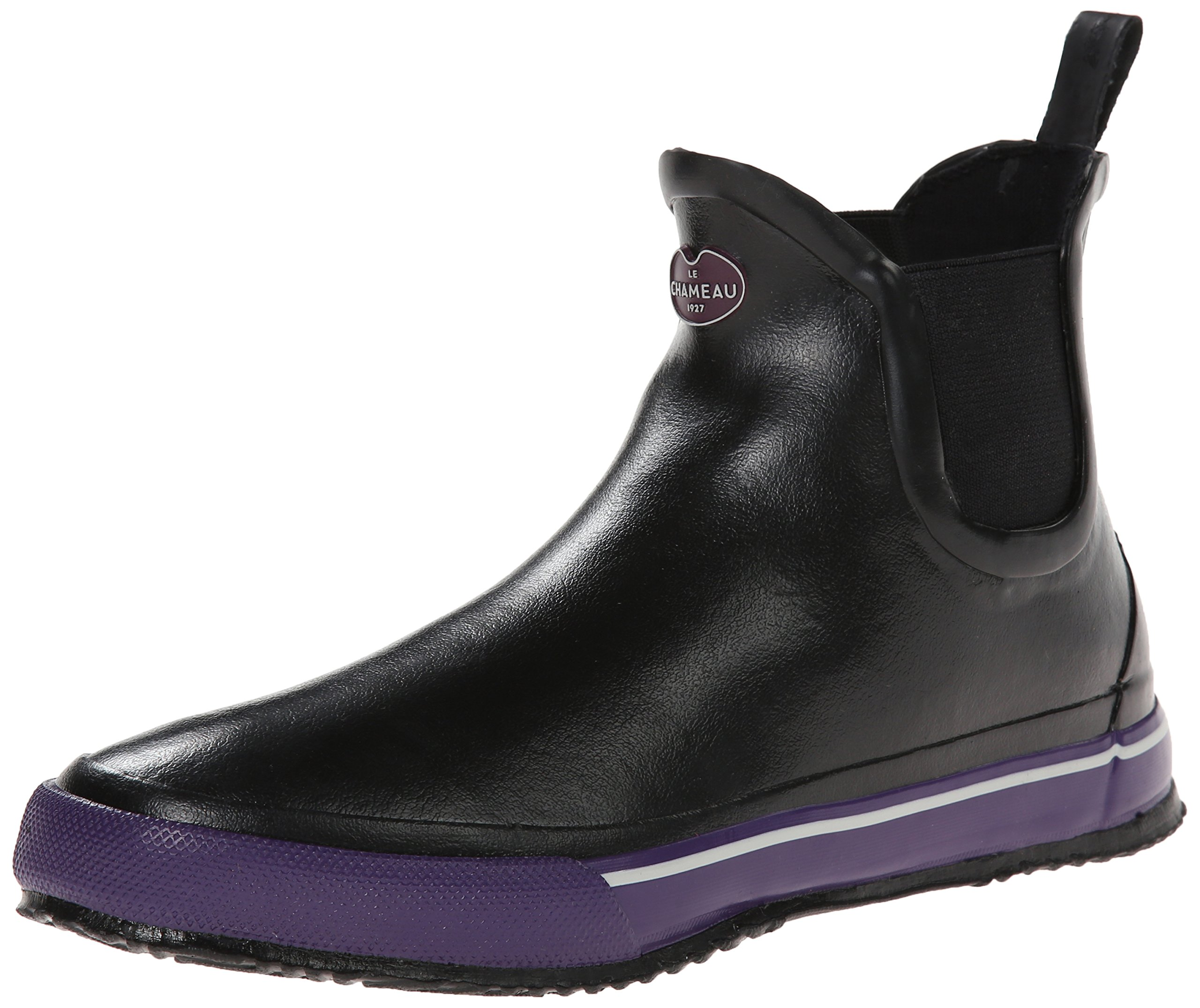 Le Chameau Footwear Women's Monceau Chelsea Boot, Black/Violet, 36 EU/5.5 M US