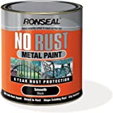 Ronseal NRSMBL250 250ml No Rust Metal Paint - Smooth Black