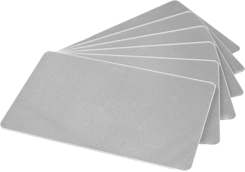 f/ür Ausweise Dienstausweise EC 100 x Karteo/® Plastikkarten blau Blankokarten im EC-Kartenformat und Bankkarten Gesundheitskarten